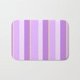 Purple Stripe Pattern Bath Mat