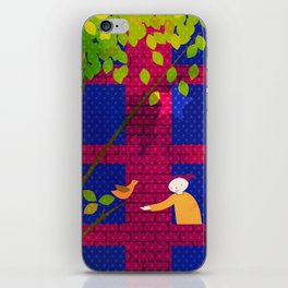 Talking to the birds iPhone Skin