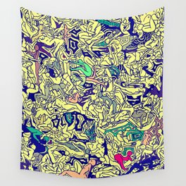 Kamasutra LOVE - Piss Yellow Wall Tapestry