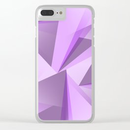 Meditation - Purple Abstract Clear iPhone Case