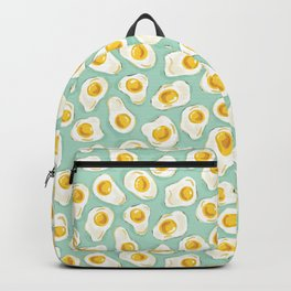 fried egg eggs sunny side up cute food pattern Backpack