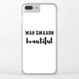 Wah Gwaarn Clear iPhone Case
