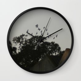 Nightfall flight Wall Clock