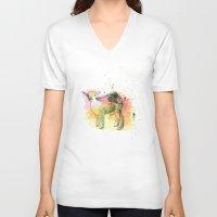 sheep V-neck T-shirts featuring Sheep by Barbara_Baumann_Illustration