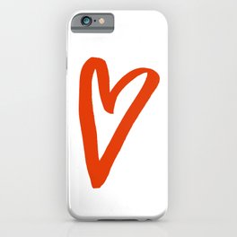 Heart Doodle Big 2 iPhone Case