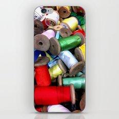 Vintage Ribbon Spools iPhone & iPod Skin