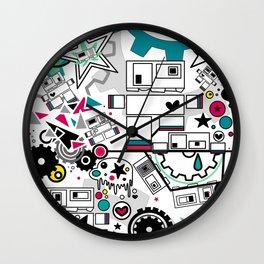 CUTE ROBOTS Wall Clock