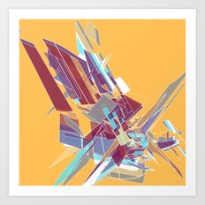 Shattered (Yellow) Art Print