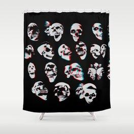 3D Skulls Shower Curtain