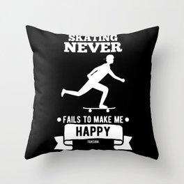 Skating boarding Throw Pillow