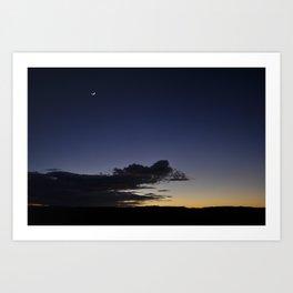 Crescent moon Art Print
