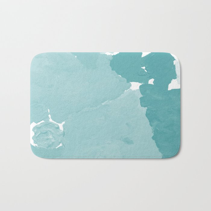 Aerin - abstract minimal painting decor for dorm college office gender neutral cool colors Bath Mat