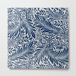 Vintage foliage seamless pattern for fine home decoration Metal Print