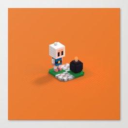 Voxel Bomberman Canvas Print