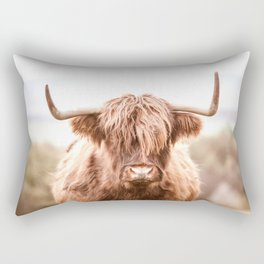 Highland Cow in a Field Southern Rectangular Pillow