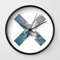 the xx Wall Clocks featuring XX  by Sara Eshak