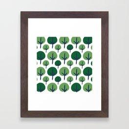 ROUND TREE Framed Art Print