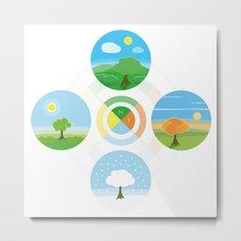 4 Seasons - Collection Metal Print