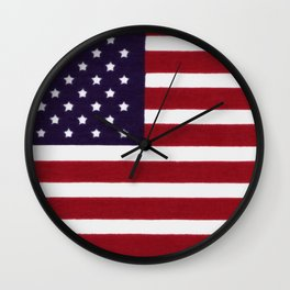 "Stars & Stripes flag, painterly ""old glory"" Wall Clock"