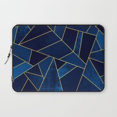 Blue stone with yellow lines Laptop Sleeve