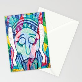 Kissed Tulips Logo Face Stationery Cards
