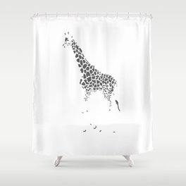 A Lack of Color Shower Curtain