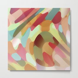 Multi Colored Terrazzo Abstract Metal Print