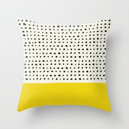Sunshine x Dots Throw Pillow