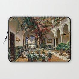 Interior Courtyard Seville Spain by Manuel Garcia Y Rodriguez Laptop Sleeve
