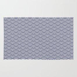 Japanese Koinobori fish scale Delft Blue Rug