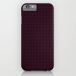Dark Merlot Wine Circle Pattern iPhone Case