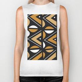 African Tribal Pattern No. 14 Biker Tank