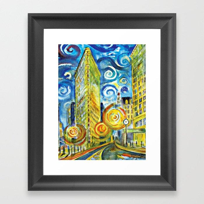 Flatiron - Starry Night Framed Art Print