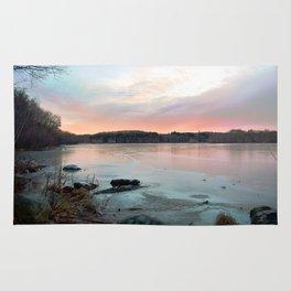 Connecticut Lake Sunrise Rug