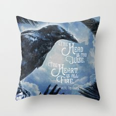 The Raven King - All Fire Throw Pillow