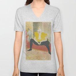 """Henri de Toulouse-Lautrec """"Sitting Clown"""" Unisex V-Neck"""