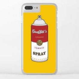 Graffiti's Tomato Spray Clear iPhone Case