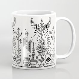 Santa Fe Garden – Black Ink Coffee Mug