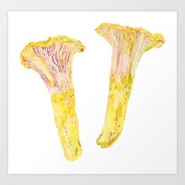 Yellow Chanterelles Art Print