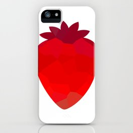 Low poly strawberries iPhone Case