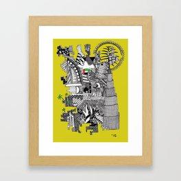 Dubai yellow Framed Art Print
