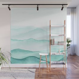 Mint Mountains Wall Mural