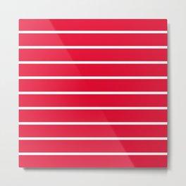 strawberry stripes Metal Print