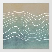 aelwen Canvas Prints featuring Wave by Aelwen