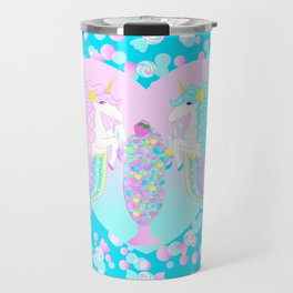 Mermicorn Twins Candy and Bubbles Travel Mug