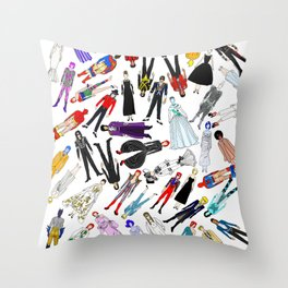 New Year Dress UP Slumber Party Throw Pillow