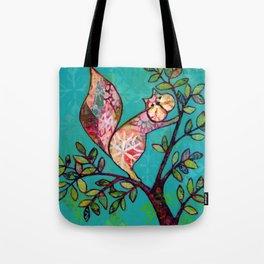 Squirrel mixed media Tote Bag