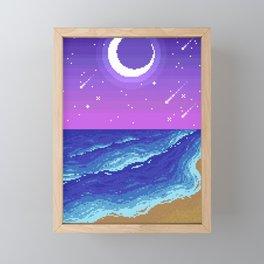 Starry Night on the Beach Framed Mini Art Print