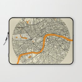 London Map Moon Laptop Sleeve
