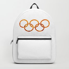 Flaming Olympic Rings Backpack